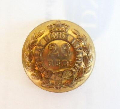 Indian Army. 26th Bombay Native Infantry Officer's Tunic Button