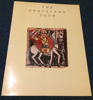 Paul Simon Graceland Tour Original Program Vintage Retro Classic Free P&P