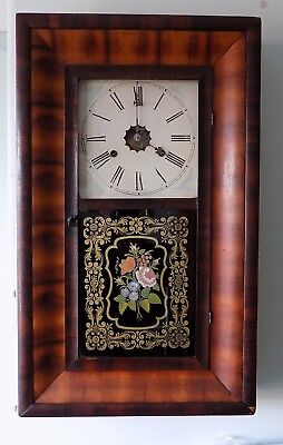 Jerome Ogee Clock  - antique USA weight driven, striking wallclock