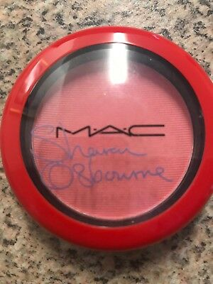 MAC Sharon Osbourne Peaches & Cream Blusher SWATCHED/TRIED ONCE in original box