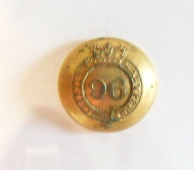 96th Regiment of Foot Officer's Coatee Button