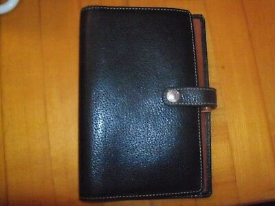 Coach Leather Daily Organizer Agenda Planner Notepad Credit Card Holder