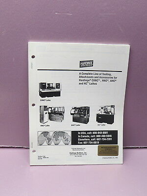 Hardinge Tooling Book - For Chnc, Hnc, Ahc, & Hc Lathes -  Brochure #1290 #2