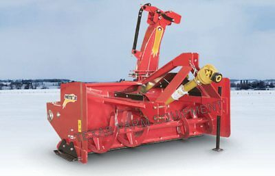 """78"""" 3-Point, Pull-Type Meteor Snow Blower with Skid Shoes & Hyd Chute Rotation!"""