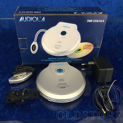 ►Audiola Dmb 0256/45/a◄ Lettore Cd Player Portatile Antishock Vintage Nuovo New