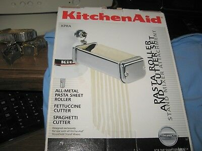 NEW KitchenAid KPRA 3 Piece  Pasta Roller And Cutter Set NEW IN BOX