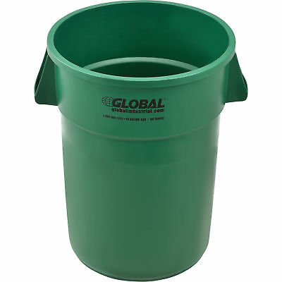 44 Gallon Garbage Can, Green, Lot of 1