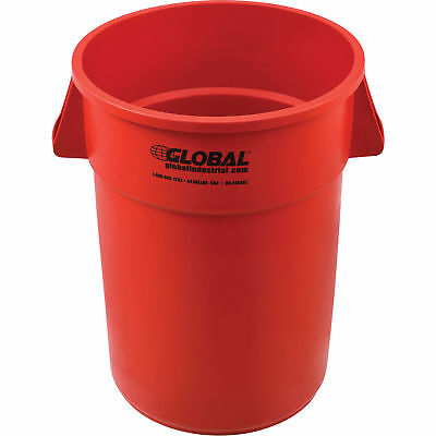 44 Gallon Garbage Can, Red, Lot of 1