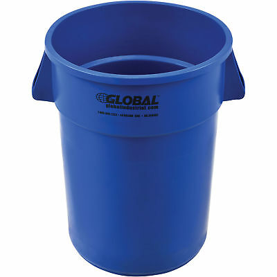 44 Gallon Garbage Can, Blue, Lot of 1