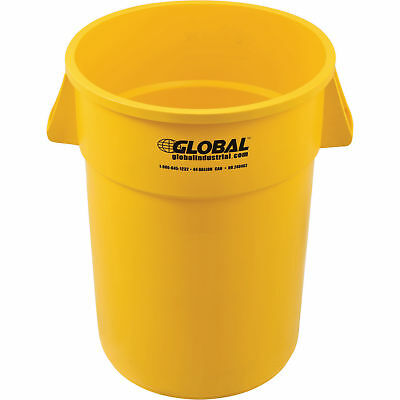 44 Gallon Garbage Can, Yellow, Lot of 1