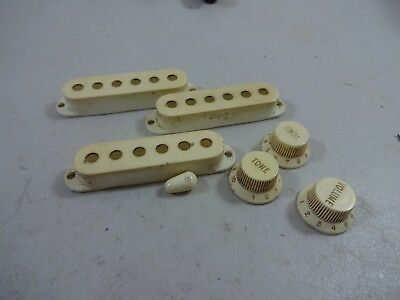 1964 Fender Stratocaster Knobs Covers & Tip     Guitar Parts