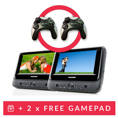 Nextbase 7 inch In Car Portable DVD Twin Player with Headrest Mount Controllers
