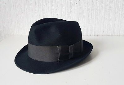 Vintage Mid 20Th Century Wool Christy'S London Trilby Hat