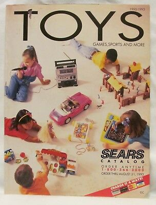 1992-1993 Sears Christmas Toys Catalog