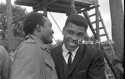 1966 Muhammad Ali w/ Jim Brown Dirty Dozen Set Photo Negatives Strip (2 negs)