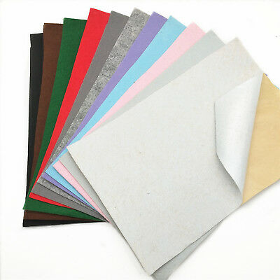 A4 Self Adhesive Felt Fabric Sticky Back Non Woven DIY Sticker Craft Sheets Lot
