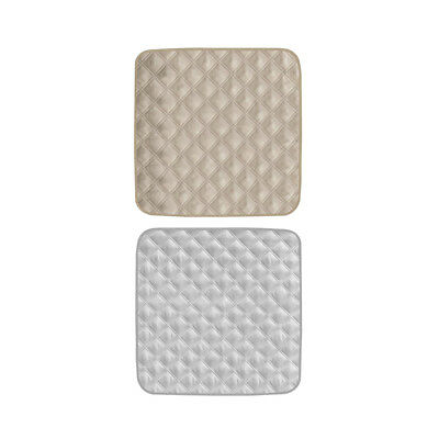 2Pcs Gray&Beige Waterproof Chair Seat Protector Pad For Incontinence on Beds