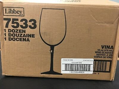 Libbey - 7533 - 16 oz Vina™ Finedge® Box of 12 Wine Glasses Ciro & Sal's  Print