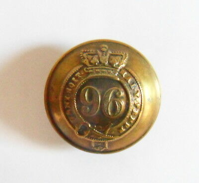 96th Regiment of Foot Other Ranks Tunic Button.