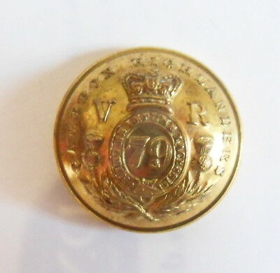 79th Cameron Highlanders Officer's Doublet Button.