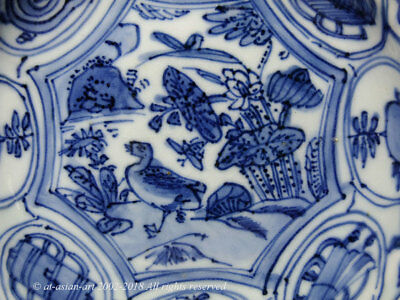 A Fine Late Ming Blue & White Kraak Moulded Export Porcelain Dish. Early 17th