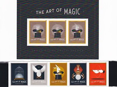 THE ART OF MAGIC Combination Pack Stamps MNH 2018 USPS