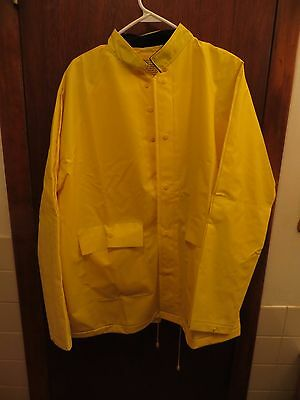 rugged rainsuits pci international pvc/polyester yellow Large Protecta Suit