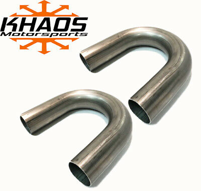 "1.625"" 1 5/8"" 180 DEGREE 304 STAINLESS 16ga MANDREL BEND EXHAUST TUBING 2 PACK"