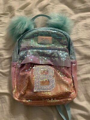 Nwt Justice Girls Ombre Sequin Mini Backpack   M