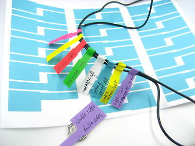 blank waterproof double sided printable write on cable sticker cable tie marker