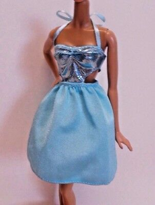 BARBIE DOLL CLOTHES FASHIONISTAS LEATHER /& RUFFLES #44 POLKA DOT DENIM SKIRT