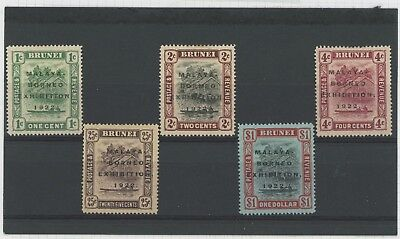 Brunei Stamps 1922 Malaya Borneo Expo To Sg #59 $1 Mint Og Vf