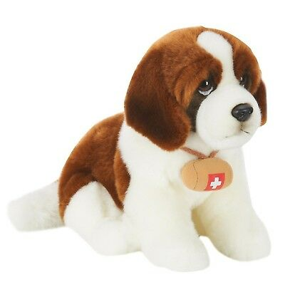 St. Bernard Dog Toys R Us Exclusive Pup Stuffed Animal Plush Realistic Brown Wh