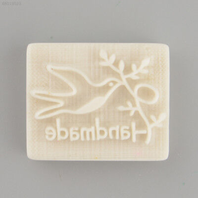 F6A1 Pigeon Handmade Yellow Resin Soap Stamp Stamping Soap Mold Mould Craft DIY