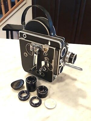 Paillard Bolex H16 Reflex Movie Camera Kern Paillard Switar 25mm F1.4 H16RX Lens