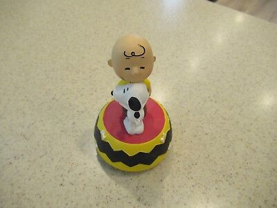 Peanuts Charlie Brown & Snoopy Westland Music Box Figure New