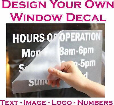 Personalised Custom Window Decal Sticker Shop Business Various Colours & Sizes