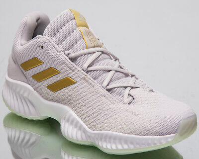 877ebf8ab adidas Pro Bounce 2018 Low Men s Basketball Shoes Grey One Gold Sneakers  B41863