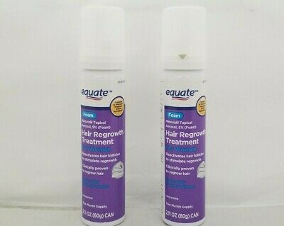 Equate Women Minoxidil Topical 5% Foam Hair Regrowth 1 Month(60g) Supply 10/19+