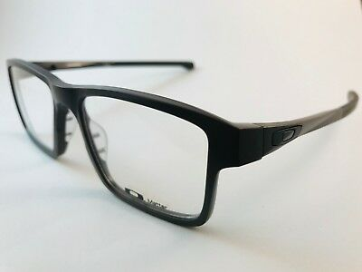 OAKLEY MENS RX eyeglass frame CHAMFER 2 black OX8040-0654 NEW w ...