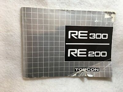 Topcon RE 200 & RE 300 SLR Camera Instruction Manual Guide Book OEM 4 Languages