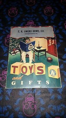 VTG 1950 Toy and Gifts E.K. Owens Hardware Co. Susquehanna, PA Christmas Catalog