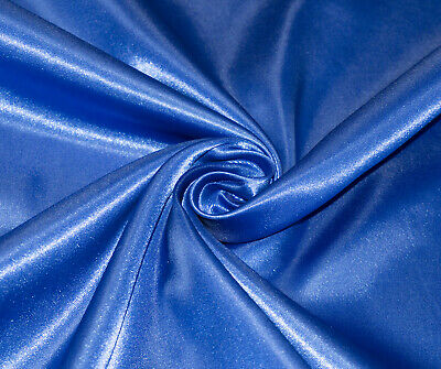 Royal Blue Silky Satin Dress Craft Fabric Wedding Material 150cm Wide