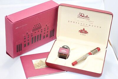 Delta Jubilaeum 2000 Red STERLING Silver Limited Edition Fountain Pen NEW