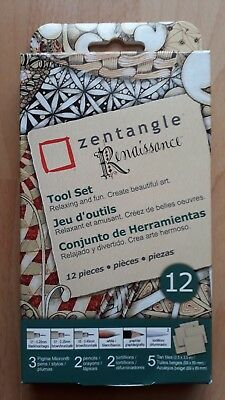 Zentangle Renaissance Tool Set (Pigma Micron, pencils, tortillions, tiles), NEU!