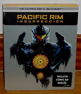 Pacific Bord Insurrection Steelbook 4K Ultra Hd+Blu-Ray+Comic Neuf (Sans Ouvrir)