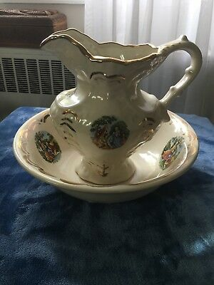 antique pitcher and bowl