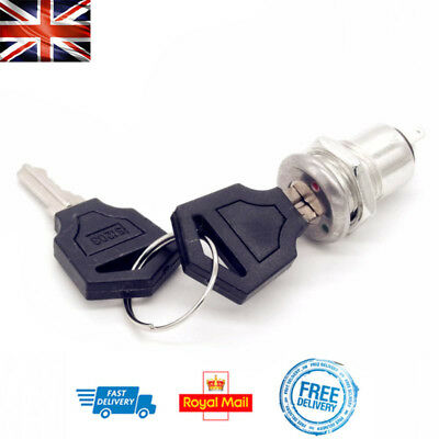 Barrel Lock Switch 12mm ON/OFF with x2 Keys KS02 Electronic Switch 3A 250V DIY