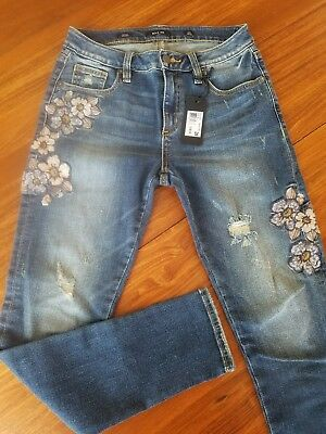 c3c8954321d Ladies Miss Me Botanical Babe Mid-Rise Ankle Skinny Jeans Size 26 Nwt  M2073Ak-