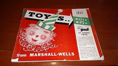 Vintage 1954 Marshall-Wells Toys Catalog Very Rare